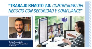 """Rodrigo Rocha Ajuria, Líder del Negocio """"Modern Work"""" en Microsoft"""